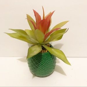 NWT faux succulent in green vase